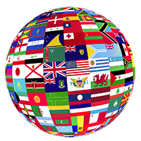Flags of the World Globe
